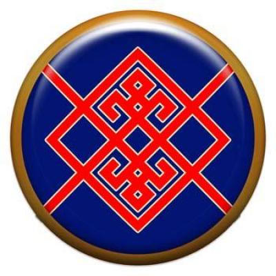 Оберег-наклейка  славянская объемная №65 Берегиня, 24мм