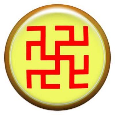 Оберег-наклейка  славянская объемная №93 Одолень-Трава, 24мм