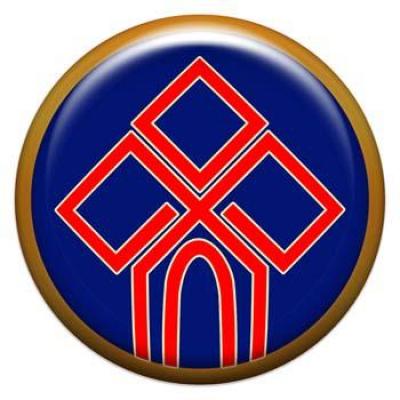 Оберег-наклейка  славянская объемная №116 Чур, 24мм